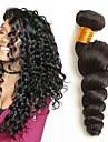 4 Связки Бразильские волосы Волнистый Натуральные волосы Накладки из натуральных волос 8-28 дюймовый Естественный цвет Ткет человеческих волос Удлинитель / Горячая распродажа