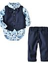 Bebelus Băieți Set Îmbrăcăminte Mată Bumbac Zilnic Primăvară Toamnă Manșon Lung Simplu Albastru piscină