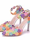 Γυναικεία Παπούτσια PU Άνοιξη / Φθινόπωρο Ανατομικό / Πρωτότυπο Γαμήλια παπούτσια Τακούνι Στιλέτο Μυτερή Μύτη Αγκράφα Ουράνιο Τόξο