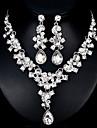 Pentru femei Set bijuterii European, Modă Include Argintiu / Rosu Pentru Nuntă Zilnic