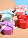 Cube Hârtie cărți de masă Favor Holder cu Pană / Blană Panglici Cutii de Savoare