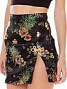 Pentru femei Bodycon Vintage Șic Stradă Fuste - Floral