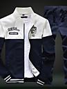 Bărbați Larg Șic Stradă Manșon Lung activewear Set Bloc Culoare Rotund