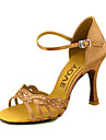 Pentru femei Pantofi Dans Latin / Sală Dans / Pantofi Salsa Satin Sandale Cataramă Toc Personalizat Personalizabili Pantofi de dans