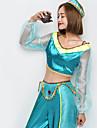 Prințesa Jasmine Costume Cosplay Crăciun Halloween Carnaval Oktoberfest An Nou Festival / Sărbătoare Costume de Halloween Culoare solidă