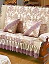 أريكة وسادة ورد / هندسي مطبوع بوليستر الأغلفة
