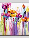 Hang-pictate pictură în ulei Pictat manual - Abstract / Floral / Botanic Modern pânză