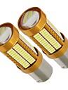 2szt wysokiej jasności iluminacja złota obudowa alumium rozpraszanie ciepła 1156 1141 p21w can-bus led 21w stop światło hamowania