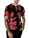 Ανδρικά T-shirt Κλαμπ Βασικό / Πανκ & Γκόθικ καμουφλάζ Λαιμόκοψη V / Κοντομάνικο