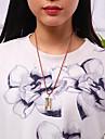 Pentru femei Coliere cu Pandativ - Argilă, Placat Auriu Design Unic, Vintage, Modă Auriu, Argintiu 42 cm Coliere Bijuterii Pentru Cadou, Zilnic