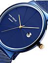 MINI FOCUS Erkek Bilek Saati Quartz Paslanmaz Çelik Siyah / Mavi / Gümüş Takvim Gündelik Saatler Havalı Analog Lüks Minimalist - Gümüş Mavi Gül Altın