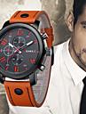 Bărbați Ceas de Mână Chineză Cool Piele Bandă Casual / Modă Negru / Albastru / Orange