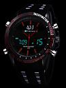 ASJ Ανδρικά Αθλητικό Ρολόι Ψηφιακό ρολόι Ιαπωνικά Συνθετικό δέρμα με επένδυση Μαύρο Συναγερμός Ημερολόγιο Φωτίζει Αναλογικό-Ψηφιακό Πολυτέλεια - Λευκό Κόκκινο Μπλε Ενας χρόνος Διάρκεια Ζωής Μπαταρίας