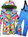 GQY® Femme Veste et Pantalons de Ski Etanche Chaud Coupe Vent Ski Sports d\'hiver Polyester Ensemble de Vetements Tenue de Ski / Hiver
