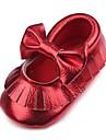 Κοριτσίστικα Παπούτσια Δερματίνη Φθινόπωρο Ανατομικό / Πρώτα Βήματα / Παπούτσια Αγκαλιάς Χωρίς Τακούνι Φούντα για Παιδιά Χρυσό / Λευκό /