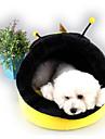 Honden Katten bedden Huisdieren Matten & Pads Kleurenblok Personage draagbaar Ademend Warm Geel Voor huisdieren