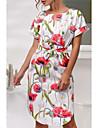 Pentru femei Ieșire Teacă Rochie Talie Înaltă Lungime Genunchi / Modele florale