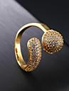 Γυναικεία Cubic Zirconia Σύμπλεγμα Band Ring 18Κ Χρυσό Stea κυρίες Μοντέρνα Μοδάτο Δαχτυλίδι Κοσμήματα Χρυσό Για Πάρτι Καθημερινά 7 / 8