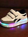 Αγορίστικα / Κοριτσίστικα Παπούτσια PU Άνοιξη & Χειμώνας / Ανοιξη καλοκαίρι Ανατομικό / Φωτιζόμενα παπούτσια Αθλητικά Παπούτσια Ταινία Δεσίματος / LED για Παιδιά Λευκό / Μαύρο