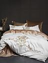 Duvet Cover Sets Contemporary 100% Cotton / 100% Egyptian Cotton Embroidery 4 PieceBedding Sets / 300 / 4pcs (1 Duvet Cover, 1 Flat Sheet, 2 Shams)