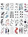 30 pcs Временные тату Временные татуировки Тату с тотемом / Тату с животными / Тату с цветами Искусство тела рука