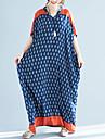 Žene Osnovni Ogroman Hlače - Geometrijski oblici Plava / Maxi / V izrez