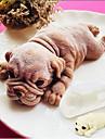 mare 3d Shar pei câine tort silicon mucegai catelus mousse tort mat 15cm