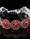 Dámské Jeden pruh Řetězové & Ploché Náramky Módní Náramky Šperky Stříbrná / Červená / Růžová Pro Dar Street
