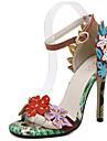 Naisten Kengät Tekonahka Kevät kesä D\'Orsay Sandaalit Stilettikorko Vihreä / Juhlat
