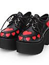 Zapatos Gosurori Punk Punk Gotico Tacon Cuna Zapatos Estampado Bloques 8 cm CM Negro Para Mujer PU Disfraces de Halloween