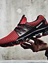 رجالي أحذية الجري مطاط ركض الركض خفة الوزن المضادة للاهتزاز التنفس إمكانية تول أبيض أسود أحمر