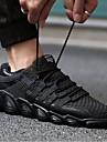 رجالي أحذية رياضية PU المشي ركض الركض التنفس إمكانية مريح غير زلة شبكة قابلة للتنفس أبيض أسود رمادي
