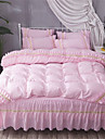 Duvet Cover Sets Solid Colored Polyster Applique 4 Piece