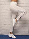 Damen mit Riemchen Yoga-Hose - Weiss, Schwarz Sport Elasthan Strumpfhosen / Lange Radhose / Leggins Laufen, Fitness, Tanz Sportkleidung Atmungsaktiv, Videokompression, Komfortabel Dehnbar