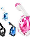 Dykning Masker Helmaske 180 grader Lækagesikker Enkelt Vindue - Svømning Dykning Snorkling silica Gel ABS + PC - til Børn Lys pink Blå / Hvid Bule / Sort / Anti-Tåge