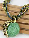 Γυναικεία Τιρκουάζ Chrysoberyl μάτι γάτας Κρεμαστά Κολιέ Οπάλιο Παγόνι κυρίες Βίντατζ Μποέμ Ευρωπαϊκό Ρυθμιζόμενο Πράσινο Μπλε Βαθυγάλαζο 42+5 cm Κολιέ Κοσμήματα Για Γάμου Πάρτι Καθημερινά Causal