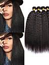 4バンドル マレーシアンヘア ヤキ 8A 人毛 人間の髪編む バンドル髪 ワンパックソリューション 8-28 インチ ナチュラルカラー 人間の髪織り 最高品質 人間の髪の拡張機能 女性用