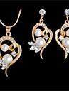 Pentru femei Apă dulce Pearl Set bijuterii Inimă femei, Romantic, Casual / sportiv, Modă Include Coliere cu Pandativ Cercei Auriu / Argintiu Pentru Nuntă Cadou Mascaradă Petrecere Logodnă Bal Dată