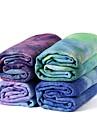 Yoga Towel Anti Slip Lightweight Super Soft Fiber for Yoga Pilates Exercise & Fitness 183*63*0.3 cm Green Blue Fuchsia