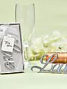 Nem személyre szabott Rozsdamentes acél / Króm Üvegnyitók / Palack kedv Klasszikus téma / Romantika / Esküvő Palack Favor