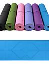 Yoga Mat 183*61*0.6 cm Eco-friendly, Multi Function, Anti Slip TPE Position Line For Yoga / Pilates / Exercise & Fitness Pink, Violet, Dark Purple