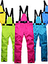 Unisexe Pantalons de Ski Etanche Chaud Coupe Vent Ski alpin Ski Coton Nylon Pantalons Chauds Salopettes Tenue de Ski / Hiver
