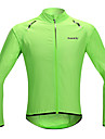 SANTIC Bărbați Pentru femei Unisex Jachetă Cycling Bicicletă Jachetă Ρούχα προστασίας από τον ήλιο Haină ploaie Rezistent la Vânt Uscare rapidă Sport Mată Lycra Verde Ciclism montan Ciclism stradal