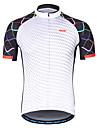 Arsuxeo Herre Kortærmet Cykeltrøje - Hvid Helfarve Cykel Trøje Refleksbånd Svedreducerende Sport 100% Polyester Bjerg Cykling Vej Cykling Tøj