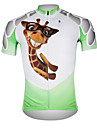 ILPALADINO Men\'s Short Sleeve Cycling Jersey - White / Green Bike Jersey Top Breathable Quick Dry Ultraviolet Resistant Sports 100% Polyester Mountain Bike MTB Road Bike Cycling Clothing Apparel
