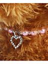 Chiens Chats Collier Portable Ajustable / Reglable Decoration Couleur Pleine Amour Plastique Violet Bleu Rose