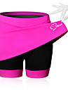 SPAKCT Women\'s Cycling Skirt Bike Shorts / Skirt / Padded Shorts / Chamois Breathable, 3D Pad Solid Colored, Patchwork, Classic Spandex Black / Blue / Pink Advanced Mountain Cycling Semi-Form Fit