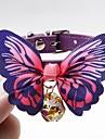 Chiens Chats Petits Animaux a Fourrure Colliers Cravate / Noeud Papillon Ajustable Portable Mini Couleur Pleine faux cuir Bleu Rose Noir