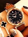 Pentru femei Ceas de Mână Quartz Negru / Roșu / Maro Creative Model nou Ceas Casual Analog femei Floare Modă - Rosu Roz Verde Închis Un an Durată de Viaţă Baterie / Oțel inoxidabil / SSUO 377