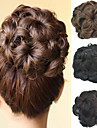 結婚式のブライダルアップヘア髷パンの花のクリップ合成culryの髪の拡張子より多くの色